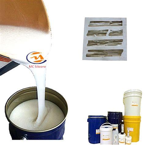 การควบแน่นทนด่างรักษายางซิลิโคนเหลวสีขาวสำหรับหินเทียม