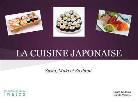 formation cuisine japonaise la cuisine japonaise sushi sashimi et maki