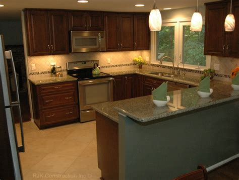 shaped kitchen remodel contemporary kitchen dc