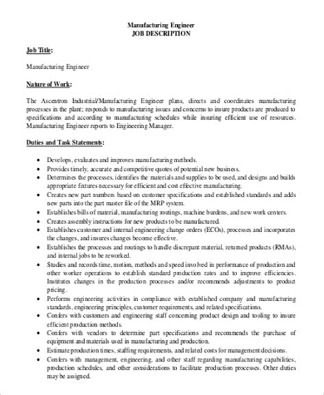 Engineering Manager Resume Pdf by Manufacturing Engineer Description 36 Winning