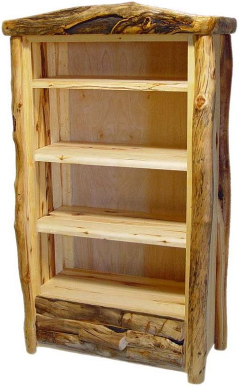 rustic bookcase plans log furniture log furniture plans