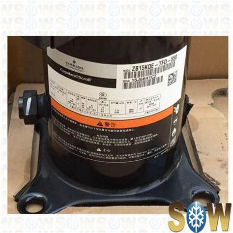 Refrigeration Copeland Scroll Compressor Zbkqe Tfd