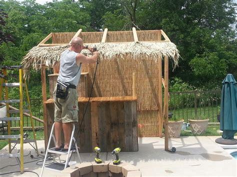 Build A Tiki Bar by Make Your Own Outdoor Tiki Bar It S 5 O Clock