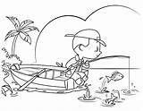 Coloring Fishing Boy Little Vector Colouring Cartoon Illustrations Clipart Adult Clip Premium Istock sketch template