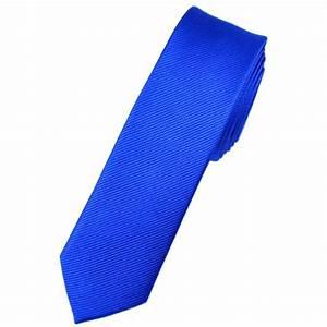 Plain Royal Blue Silk Skinny Tie from Ties Planet UK