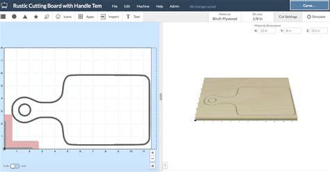 cutting board template 6 x 12 cutting board template