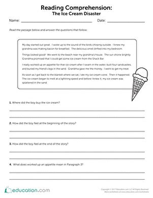 3rd Grade Comprehension Worksheets & Free Printables Educationcom