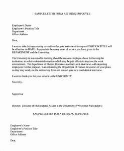 retirement letter 7 free pdf documents dpwnload free With retirement letter from employer to employee template