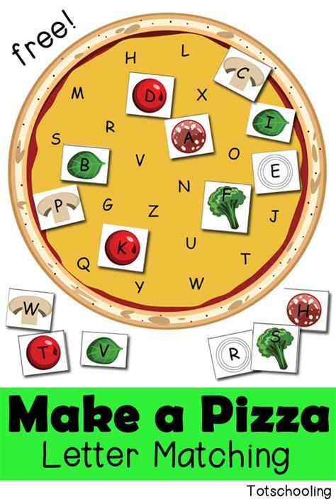 pizza letter matching activity totschooling toddler preschool kindergarten