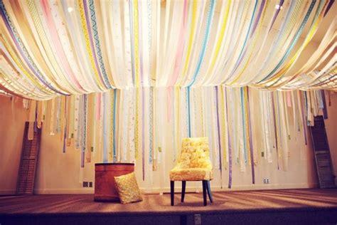 whimsical illinois wedding wedding fabric ceiling and