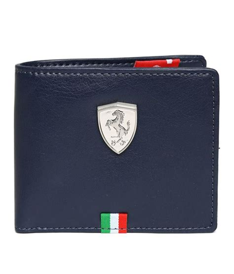 puma mens ferrari blue leather wallet buy