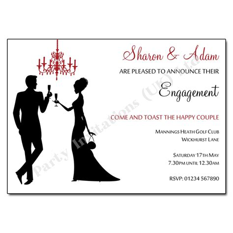 silhouettes chandelier engagement invitation engagement