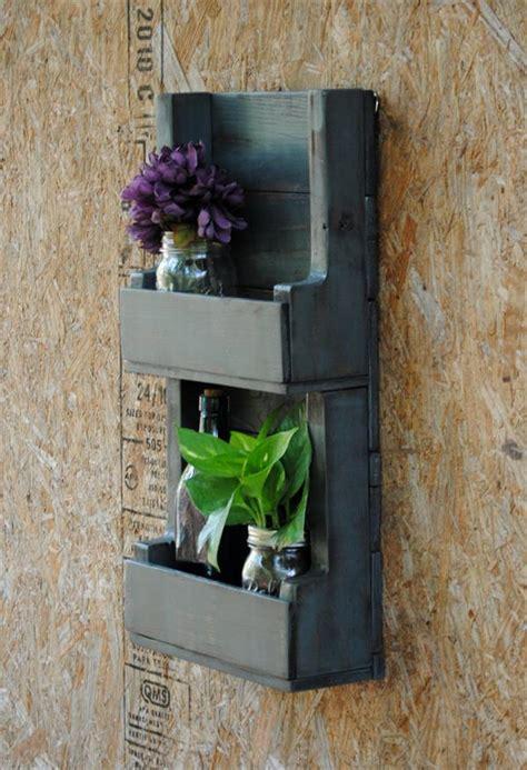 pallet wall shelf unit pallet furniture plans