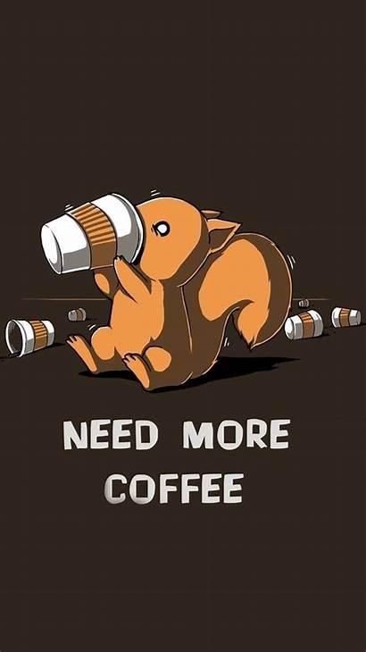 Coffee Iphone Cartoon Funny Minimalist Wallpapers Need