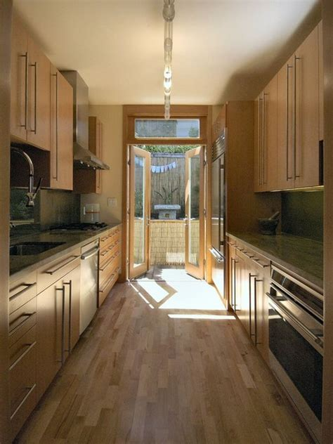 narrow kitchen ideas form and function in a galley kitchen