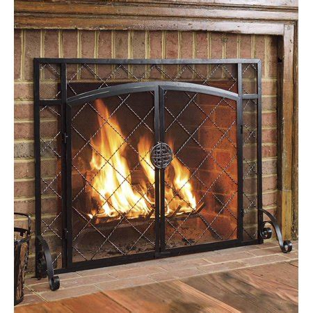 fireplace screens walmart 2 door celtic knot flat fireplace screen 39 quot w x 31 quot h in