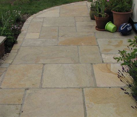 limestone or sandstone paving sandur yellow patio pack indian limestone paving lsd co uk