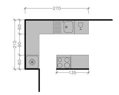plans de cuisine ouverte plan de cuisine avec îlot central les 6 exemples à