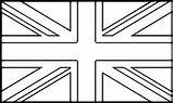 Flag Coloring Printable National Flags Kingdom United Template Bunting England Wecoloringpage Britain Union British Jack Sheets Drawing London Colors Colorpages sketch template