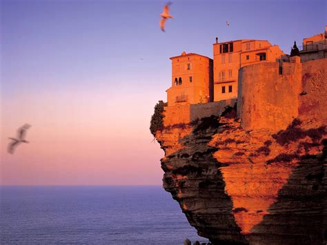 Fortress At Bonifacio Corsica France Picture Fortress At