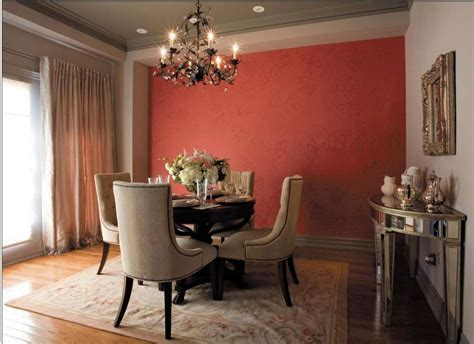 accent wall   tone  tone stenciled wallpaper effect