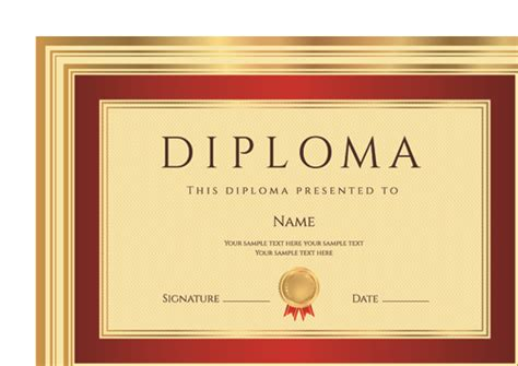 Diploma Format by Gold Diploma Cover Template 03 Free
