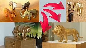 DIY ROOM DECOR 3 ideas upcycling plastic animal toys with