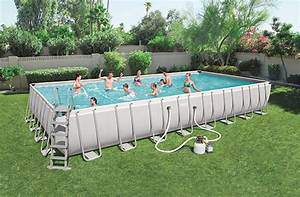 Piscine Bestway Rectangulaire : piscine bestway rectangulaire power steel 956 x 488 x 132 ~ Melissatoandfro.com Idées de Décoration