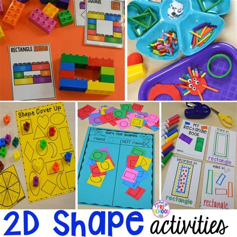 shapes theme preschool activities 2d shape activities for preschool pre k and kindergarten 128