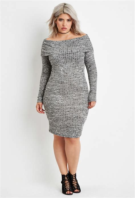 plus size sweaters forever 21 plus size the shoulder sweater dress in