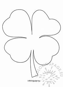 4 leaf clover pattern coloring page With clover templates flowers