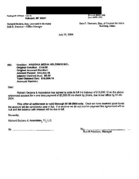 debt settlement negotiations marital settlements