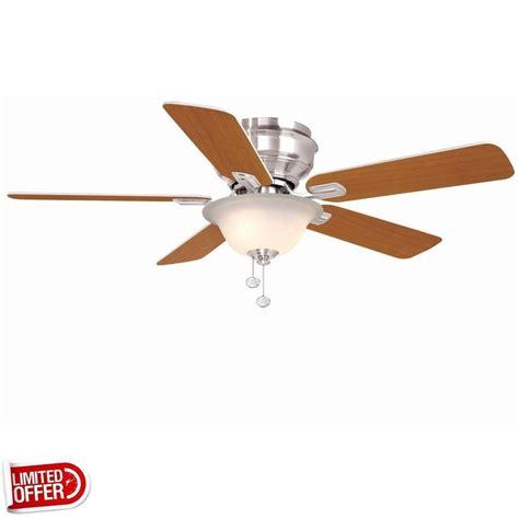 44 inch ceiling fans sale hton bay hawkins 44 inch brushed nickel ceiling