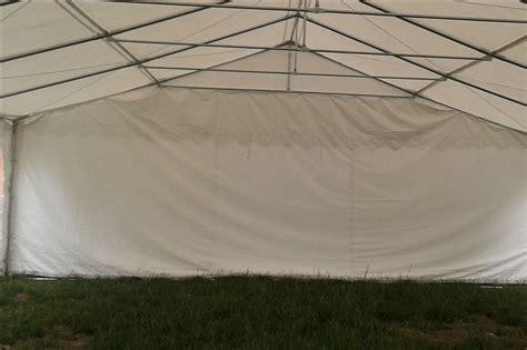 white pvc party tent