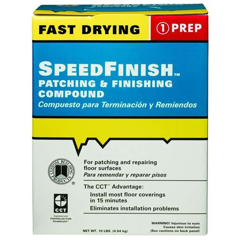 floor patching compound bunnings custom building products speedfinish 10 lb patching and