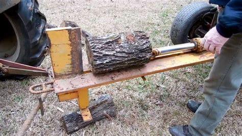 build  homemade log splitter youtube