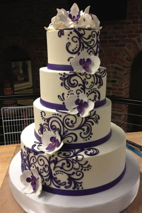orchids  dark lace pattern wedding cake toppers