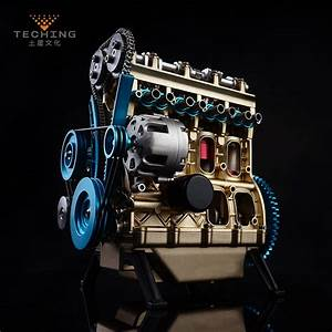 Full Metal Assembled Four Cylinder Inline Gasoline Engine Model Building Kits For Researching