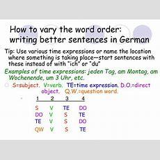 Ppt  Wortstellung (word Order) Powerpoint Presentation Id6728480