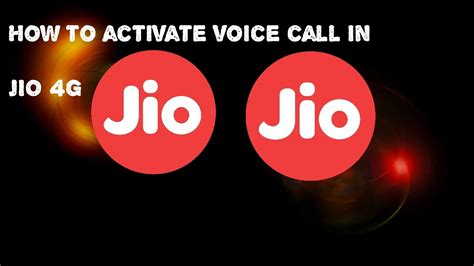 how to activate voice call on jio sim