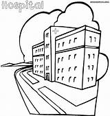 Hospital Coloring Pages Building Printable Getcolorings Print Hospital1 sketch template