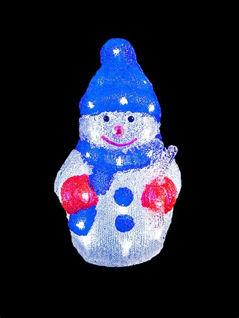 Light Up Acrylic Santa Snowman Reindeer Christmas Outdoor