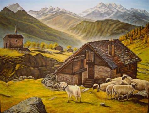chambre artiste chalet montagne peinture christine