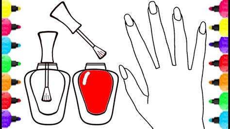Nail Art Coloring Pages For Girls Coloring Nail Polish