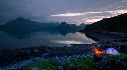 Camping Campfire Tent Fire Scotland Nature Mountains