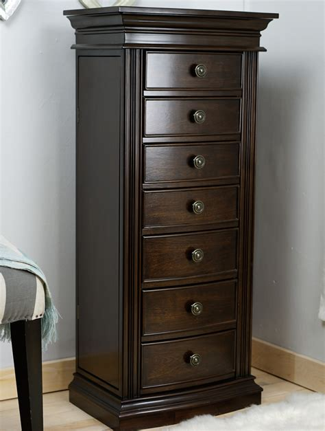 jewelry chest armoire landry jewelry armoire walnut hives and honey
