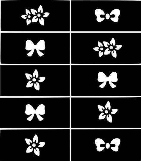 nail art stencil sticker decal template images