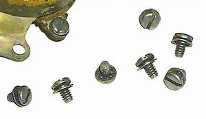 Terminal Screws With Washers For 1936  U0026 Later Ignition