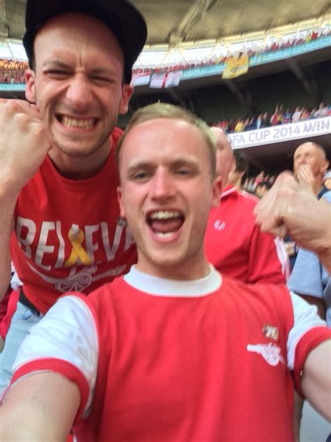 John and myself celebrating at full time of the cup final ...