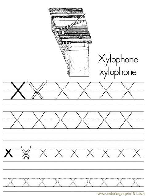 alphabet abc letter  xylophone coloring pages